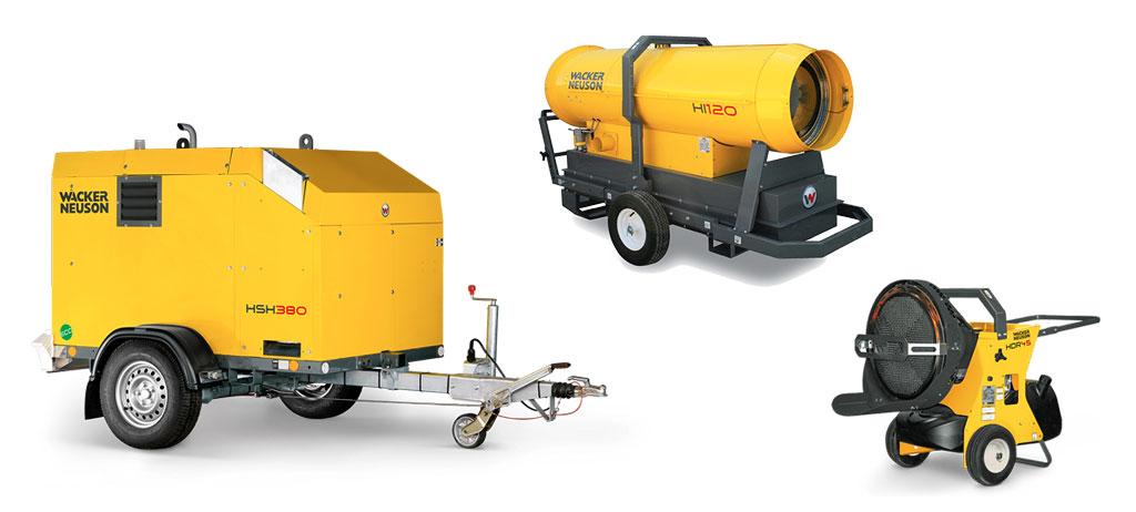 Wacker Neuson calefactores 2ports